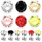 Stainless Steel 316L Round CZ Cut Stud Earrings