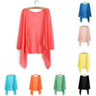 Candy colors Casual Top Kimono Coat Cape Blazer Jacket Knitwear Cardigan Shawl