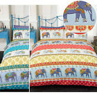 Ethnic Indian Style Duvet Cover With Elephant & Paisley Print - Trendy Bedding