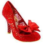 Womens Irregular Choice Mal E Bow High Heels Bow Floral Court Shoes UK 3.5-8
