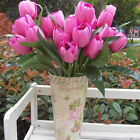 New Plants Artificial Christmas Silk Flower 9 Heads Home Decor Rose Tulip Party