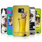 HEAD CASE ANIMALI DIVERTENTI CASE IN GEL PER SAMSUNG GALAXY S2 II I9100