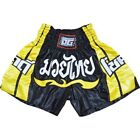 DUOGEAR BLACK 'CHOK DEE' MUAY THAI KICKBOXING BOXING SHORTS (Kids XS - Adult XL)