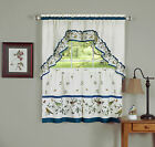 Love Birds Complete 3 Pc. Kitchen Curtain Tier & Valance Set - Assorted Sizes