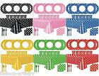 Polka Dot Spot Birthday Summer Tropical Party Supplies Tableware Pack Set For 8