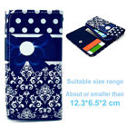 Universal Wallet T50 Card Purse Button Flip Case Cover For Many Phones+Stylus