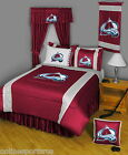 Colorado Avalanche Comforter Sham & Valance Twin Full Queen King Size