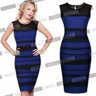 Womens Office Business Evening Party Cocktail Formal Bodycon Short Mini Dresses