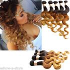 """Brazilian new Ombre Body Wave 12""""-30"""" 1b33#27# 50g Real Human Hair Extensions"""