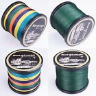 8Strands Top PE Dyneema Braided Sea Fishing Line Multi-Color/Yellow/Moss Green