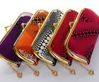 1PC Dots Patent Leather Lady Women Gold Metal Clutch Wallet Coin Bag Purse