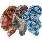 BMC 3pc Lightweight Sheer Statement Scarf Printed Collection- Various Designs