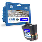 COMPATIBLE FRAMA 1019138 MATRIX F62 FRANKING MACHINE BLUE INK CARTRIDGE