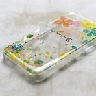 XAZ Pressed Real Dry Flower Petal Bling Hard Skin Case Cover For Samsung iPhone