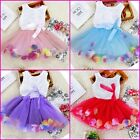 Toddler Infant Girl Wedding Party Outfit Flower Girls Dresses SIZE 0-6-12-18-24M