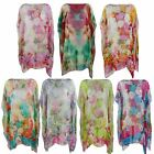 WOMENS BEACH KAFTAN LADIES SUMMER PONCHO COVER UP TOP PLEATED SARONG FREE SIZE