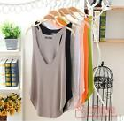 HO AU New Fashion Womens Summer Loose Sleeveless V-Neck Vest Tank Tops T-Shirt