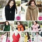 HO AU Fashion Winter Women Men Braided Knit Wool Long Scarf Wrap Shawl Scarve