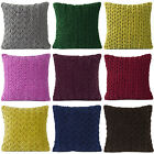 """LARGE SELECTION - 16"""" HAND-QUILTED VELVET COTTON PILLOW CUSHION THROW COVER TOSS"""