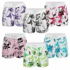 WOMENS SWIMMING SUMMER SHORTS LADIES FLORAL BEACH SURF BOARD BOTTOMS SIZE S-XXL