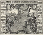 1611 Wall Map Belgium & Netherlands Lion Map 12 Years War Truce