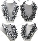 NEW Lots Fashion Multi Resin Bead Women's Bubble Bib Statement Necklace Pendants