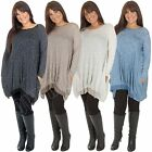 New Womens Ladies Italian Lagenlook Quirky Cocoon Jersey Tunic Dress Top Size L
