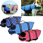 Dog Life Jacket & Pet Safety Vest Preserver Swimming Preserver Aid Buoyancy