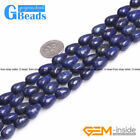 Blue Lapis Lazuli Gemstone Drip Teardrop Beads For Jewelry Making Free Shipping