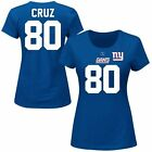 Victor Cruz New York Giants Women's Royal Blue Her Catch Plus Size T-Shirt