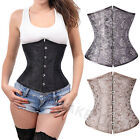 New Floral Black White Grey Sexy Lace up underbust Training Control Waist Corset
