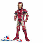 Childs Deluxe Official Iron Man Marvel Avengers Age Ultron Fancy Dress Costume
