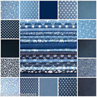 DENIM FABRIC - ALL KINDS WASHED STRETCH FLORAL STARS PLAIN COTTON jeans 11oz 4oz