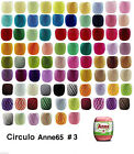 Circulo ANNE 65 Crochet Soft Cotton Yarn Knitting Thread #3 65m Solid & Random