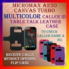 ACM-CALLER ID TABLE TALK CASE for MICROMAX A250 CANVAS TURBO MOBILE FLIP COVER