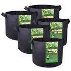 VIVOSUN 10 Packs Fabric Plant Pots Grow Bags Containers 3,5,7,10,15,25,30 Gallon