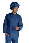 COMPLETO CUOCO ISACCO JEANS PANTALONE GIACCA CAPPELLO COMPLETE CHEF JACKET PANTS