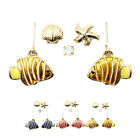 2015 New Shells Starfish Tropical Fish Earrings Eardrop Ear Jewelry Unique gift