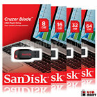 8GB 16GB 32GB 64GB - SanDisk CRUZER BLADE USB 2.0 Flash Memory Pen Drive lot