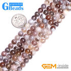 """Natural Stone Botswana Agate Round Beads For Jewelry Making Free Shipping 15"""""""