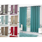 Plain Dyed Cotton Curtain Pair – Ready Made & Fully Lined with Ring Top Eyelets