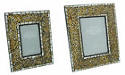 Art Deco Antique Gold Mosaic Glass Classical Vintage Ornate Photo Picture Frames
