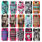 ZTE Speed N9130 Dual Layer T-Stand Impact Armor Hybrid Rubber Cover Case+ Film