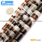 "Botswana Agate Column Tube Beads For Jewelry Making Free Shipping 15"" 8-20mm"