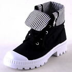 NEW WOMENS BLACK CANVAS LUG SOLE LACEUP HIGHTOP SNEAKERS