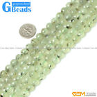 """Natural Round Faceted Prehnite Beads Jewelry Making Loose Beads15"""" Free Shipping"""
