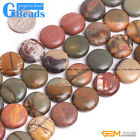 """Coin Gemstone Picasso Jasper Loose Beads Strand 15"""" Jewelry Making Free Shipping"""