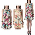 Hidden Fashion Womens Ladies Sleeveles Floral Top With Laser Cut-Outs