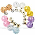 2pc 20G CZ Gem Celebrity Runway Galaxy Crystal Women Earrings Ear Studs Jewelry