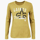 Majestic New Orleans Saints Gold Illegal Formation IV Long-Sleeve Womens Shirt